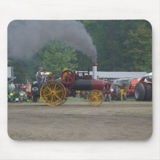 Old Coal Engine Tractor Mouse Pad