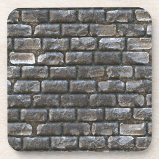 Old Cobblestone. Funny Stone Ancient Pattern Drink Coasters