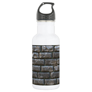 Old Cobblestone. Funny Stone Ancient Pattern 18oz Water Bottle