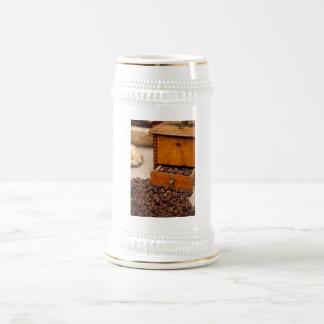 Old Coffee Grinder Beer Stein