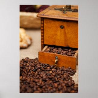 Old Coffee Grinder Poster