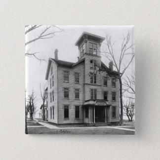Old College, Evanston, built in 1855 Button