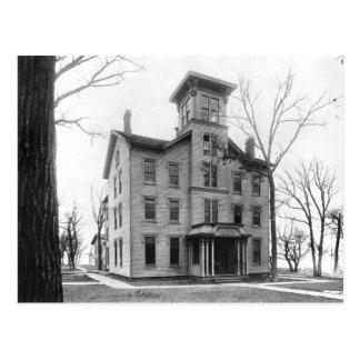Old College, Evanston, built in 1855 Postcard