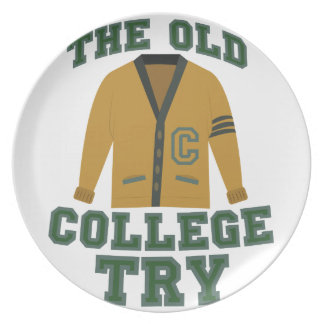 Old College Try Dinner Plate