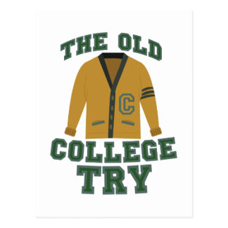 Old College Try Postcard
