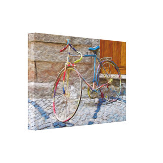 Old Colorful Bike Canvas