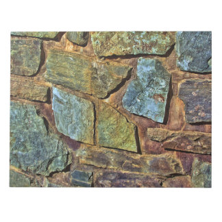 Old colorful stone wall texture notepad