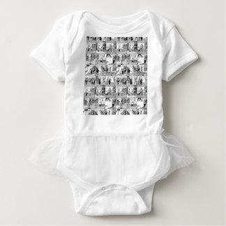 Old comic strip baby bodysuit