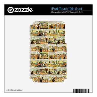 Old comic strip decal for iPod touch 4G