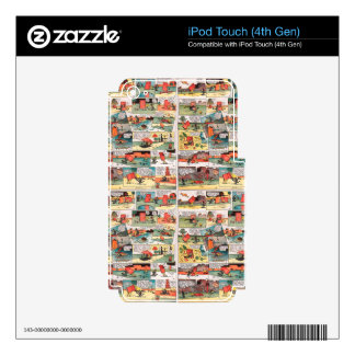 Old comic strip skin for iPod touch 4G