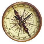 Old Compass Reloj Redondo Grande