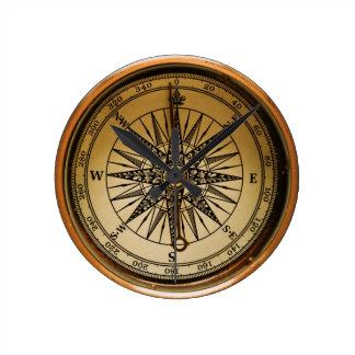 Old Compass Reloj Redondo Mediano