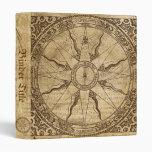 Old Compass Rose 3 Ring Binder