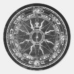 Old Compass Rose (B&W) Classic Round Sticker