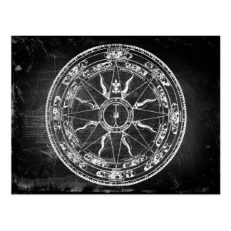 Old Compass Rose (B&W) Post Card