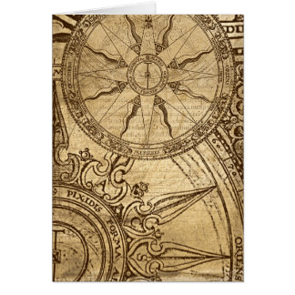 Old Compass Rose Greeting Card