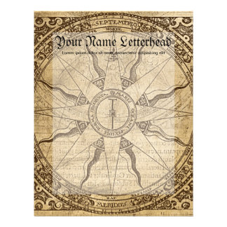 Old Compass Rose Letterhead