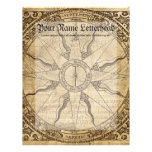 Old Compass Rose Letterhead Template