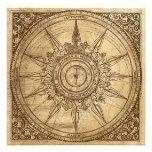 Old Compass Rose Personalized Invitation