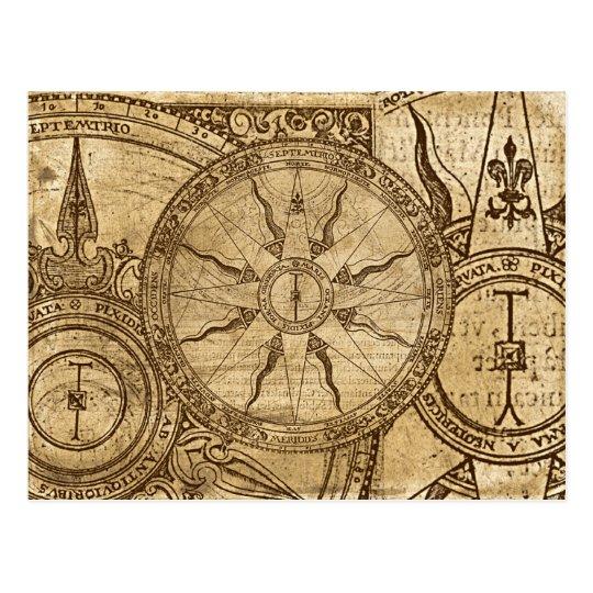 Old Compass Rose Postcard