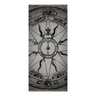 Old Compass Rose Rack Card