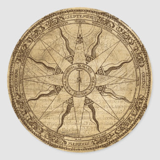 Old Compass Rose Stickers