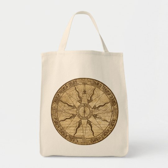 Old Compass Rose Tote Bag