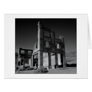 """"""" Old Cook Bank Building """" Black and White Version Card"""