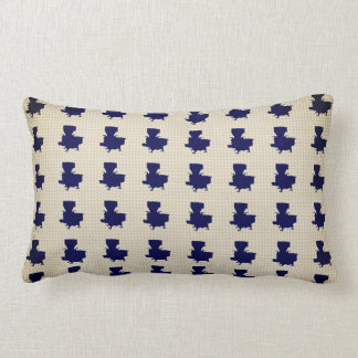 Old-Cook-Stove-Navy-Cream-Pillow-Lumbar Lumbar Pillow