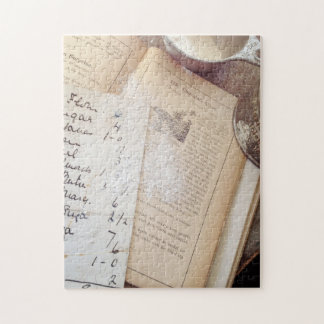 Old cookbook and recipes jigsaw puzzle