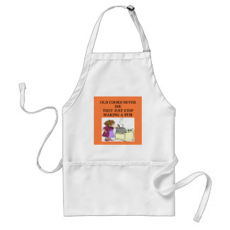 old cooks never die adult apron