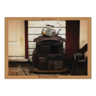 Old Cottage Rustic Building Country-style Poster