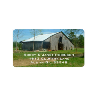 Old Country Barn Address Stickers Personalized Address Label