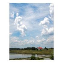 Old Country Barn Landscape Letterhead
