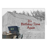 Old Country Barn & Vintage Pickup- -customize it Greeting Card