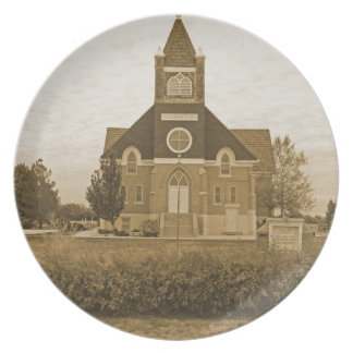 Old Country Church Melamine Plate