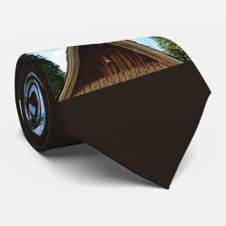 Old Country Church, Vintage Cross and Bell Neck Tie