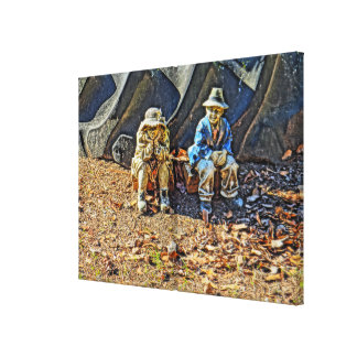 Old country couple canvas print