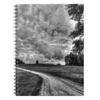 Old Country Dirt Road Spiral Notebook
