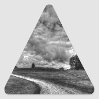 Old Country Dirt Road Triangle Sticker