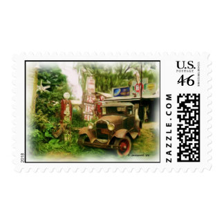 Old Country Gas Station Postage