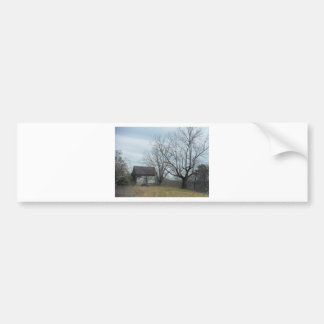 Old country home bumper sticker