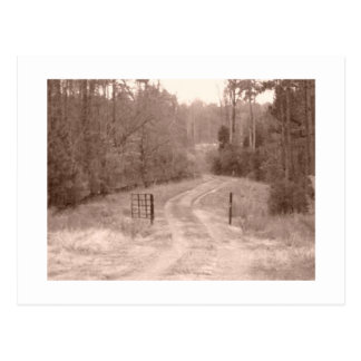 old country road postcard