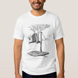 Old Country Waterpump and Shed Pen and Ink Shirt