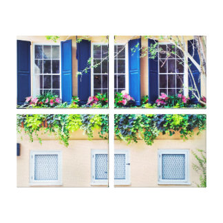 Old Country Windows Gallery Wrapped Canvas