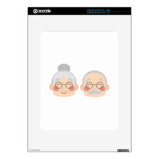 Old Couple Decal For iPad