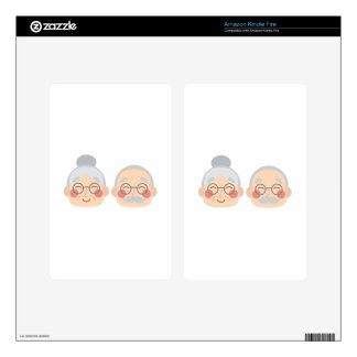 Old Couple Decals For Kindle Fire