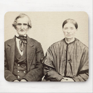 Old Couple Vintage Albumen CDV Photo From 1860's Mouse Pad