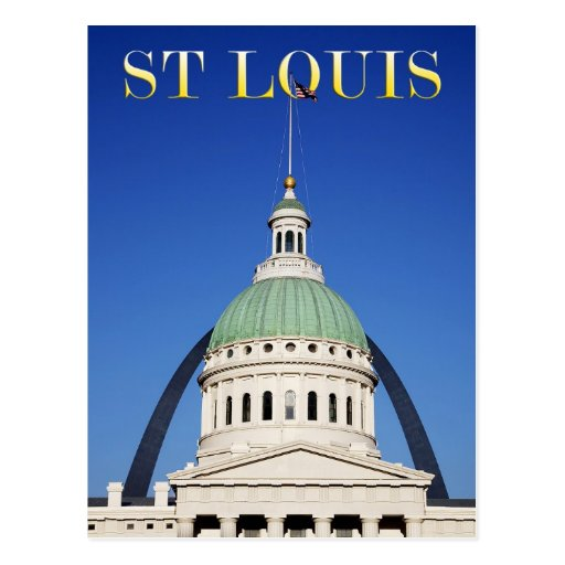 Old Courthouse and Gateway Arch, St Louis Post Card