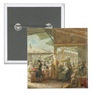 Old Covent Garden Market, 1825 2 Inch Square Button